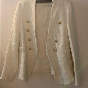 Used Zara Blazer in white color. Size XS